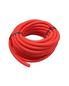 Joustava suojaputki kaapeleille, punainen, 25m