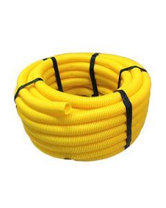 Joustava suojaputki kaapeleille, keltainen, 25m