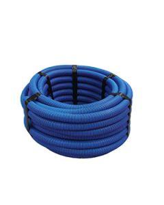 Joustava halk.suojaputki kaapeleille,sininen,25m