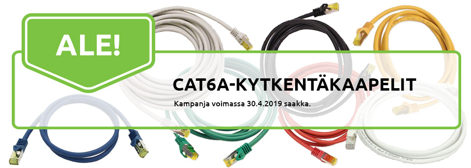 Kampanja: Cat6A kytkentäkaapelit